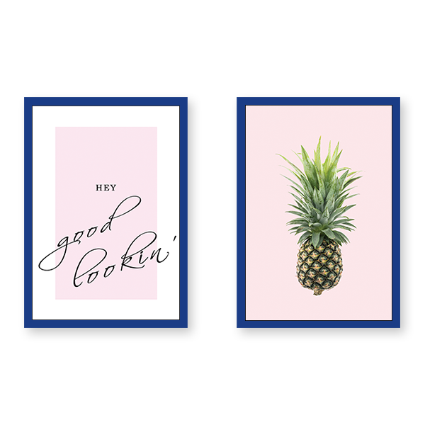 Hey Pineapple - Set of 2 Frames - urban-karigars