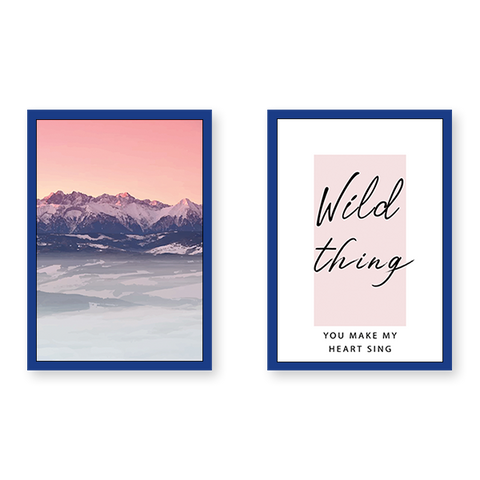 Wild Thing Quote With Mountains - Set of 2 Frames