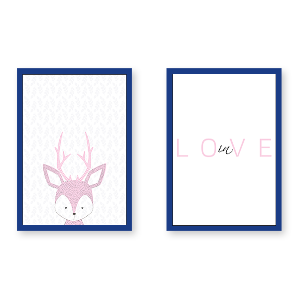 Baby Deer In Love - Set of 2 Frames - urban-karigars