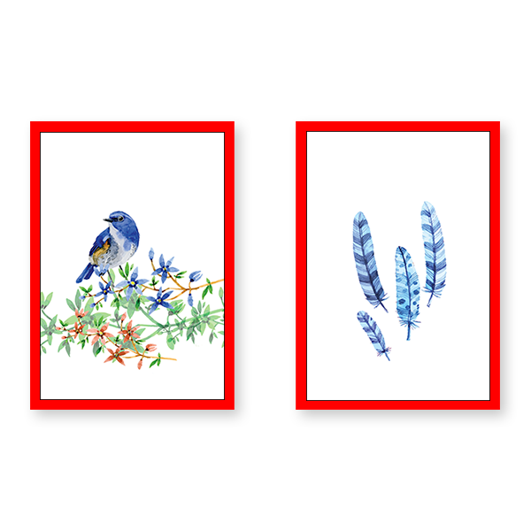 Hi Birdy - Set of 2 Frames