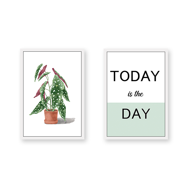 Today Is The Day - Set of 2 Frames - urban-karigars