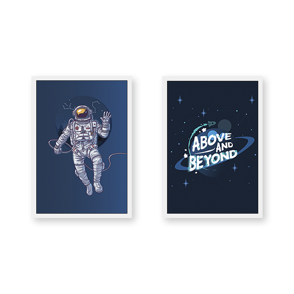 Above & Beyond #SPACE - Set of 2 Frames