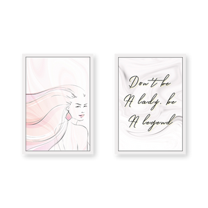 Don't be A Lady Be A Legend - Set of 2 Frames
