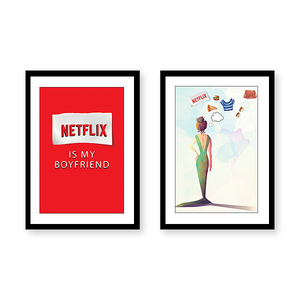 Netflix Set of 2 Frames