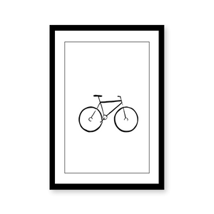 Line Art Bicycle - urban-karigars
