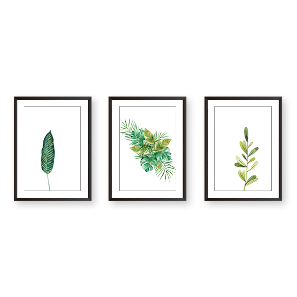 Just Leaves #3B - Set of 3 Frames - urban-karigars