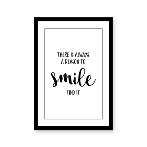 Reason to Smile Quote - urban-karigars