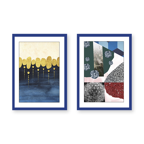 Natural Abstraction Set of 2 Frames