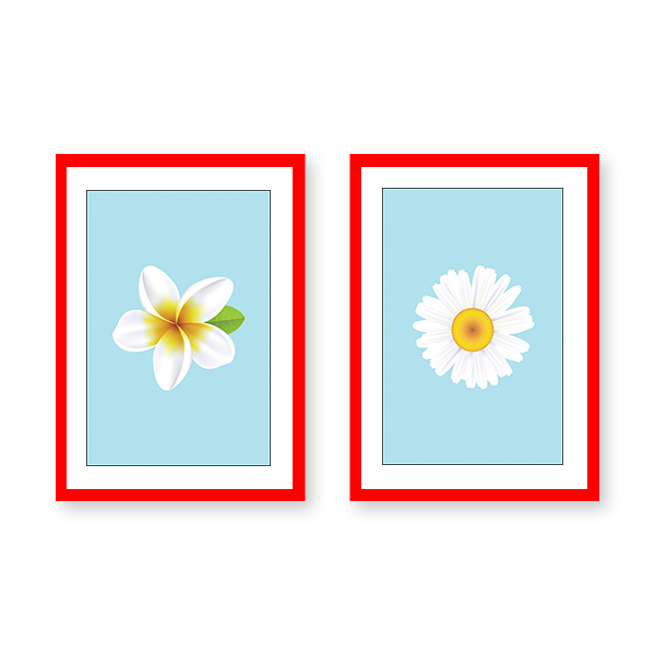 Just Flowers #2A - Set of 2 Frames - urban-karigars