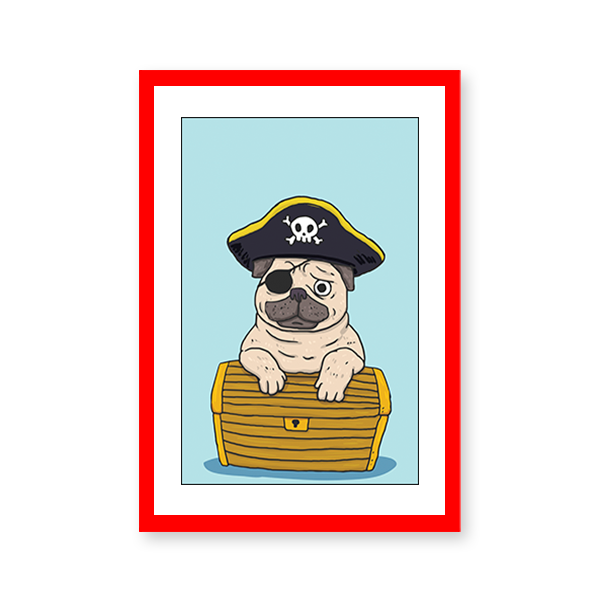 The Pirate Pug - urban-karigars