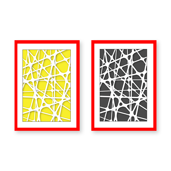 Abstract Geometric Set of 2 Frames - urban-karigars