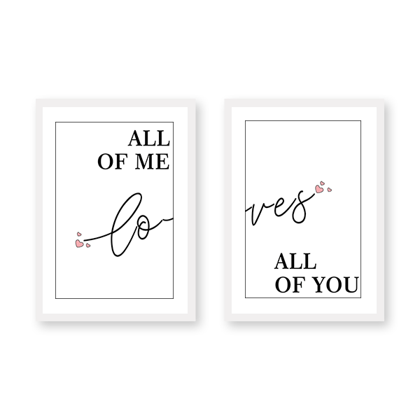 Loves Set of 2 Frames