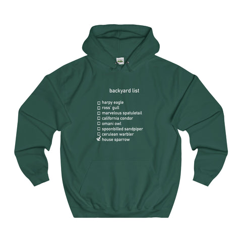 Backyard List - Unisex College Hoodie