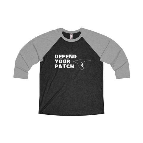 DEFEND YOUR PATCH - Unisex Raglan Shirt