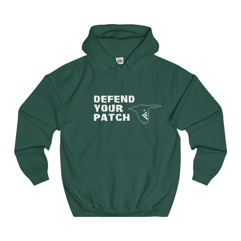 DEFEND YOUR PATCH - Unisex College Hoodie
