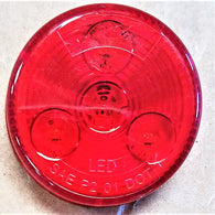 "C030317 2"" RED MARKER LIGHT, 3 LED'S"