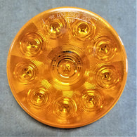 "C030318 4"" AMBER ROUND TURN LIGHT; 10 LED DIODES"