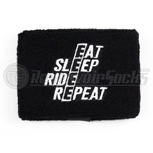 Eat Sleep Ride Repeat Brake Reservoir Socks