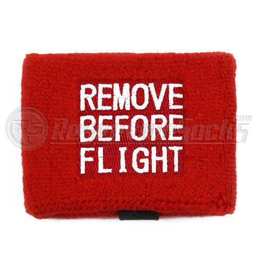 Remove Before Flight Brake Reservoir Socks