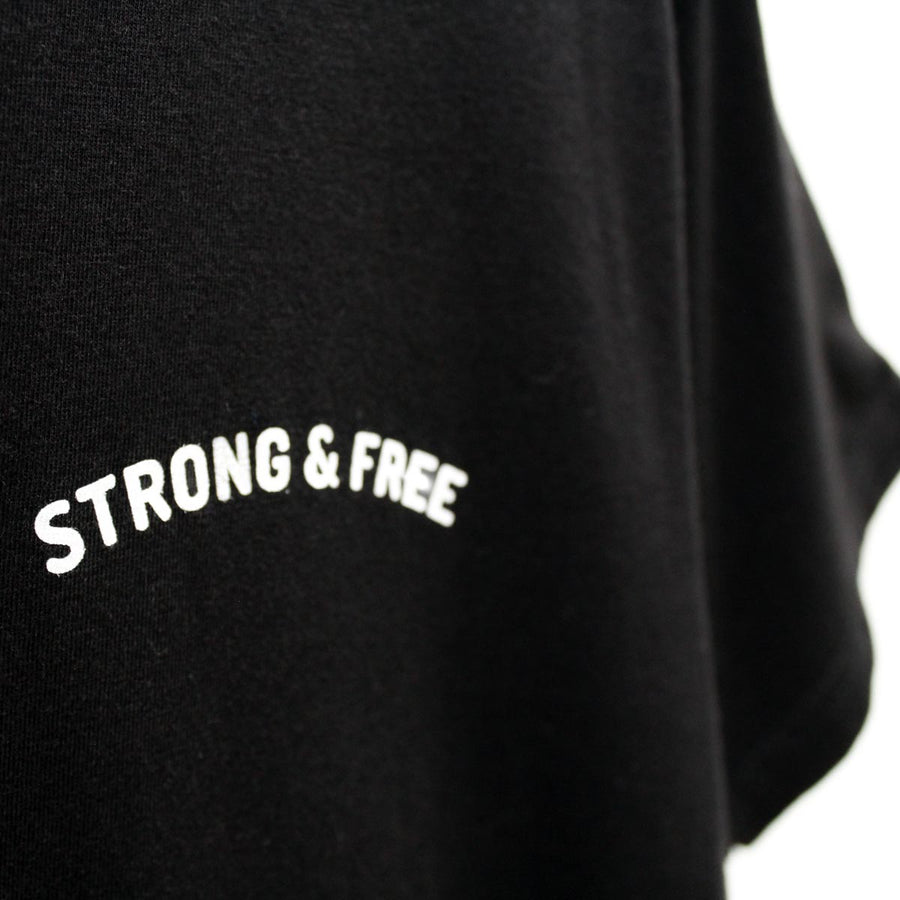Strong & Free Illusion Bamboo T-Shirt - Black