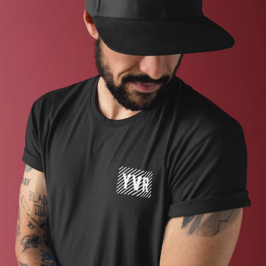 YVR Vancouver Airport Code Bamboo T-Shirt - Black