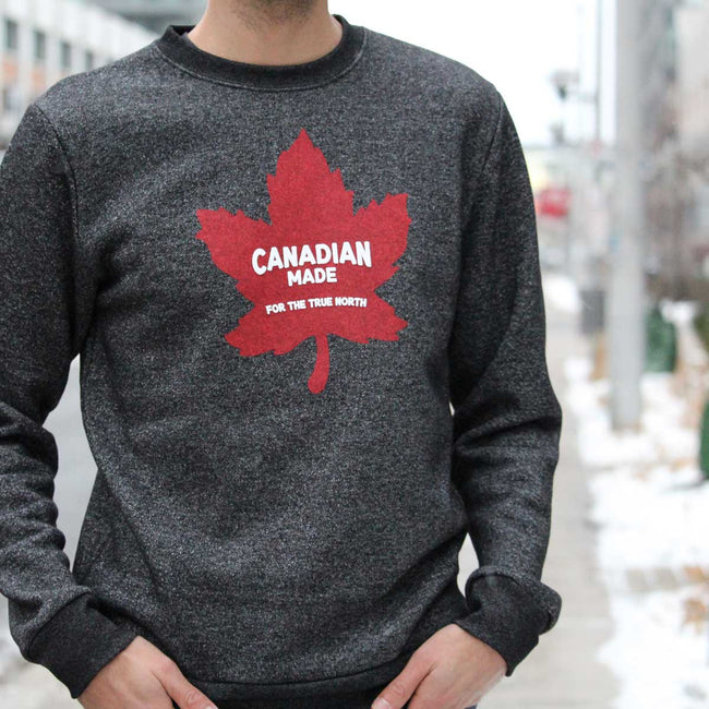 Canadian Made for the True North Marled Cotton Sweatshirt - Black