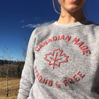 Canadian Made Strong & Free Marled Cotton Sweatshirt - Grey