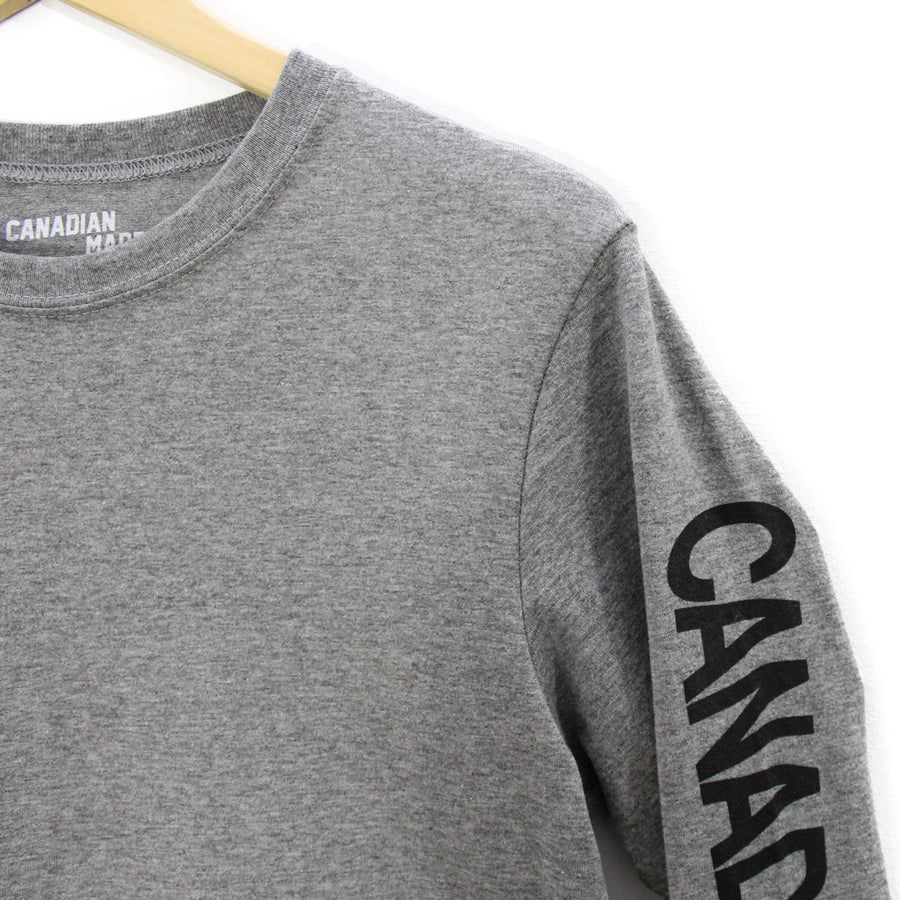 Canadian Made Wavy Round Hem Long Sleeve - Grey