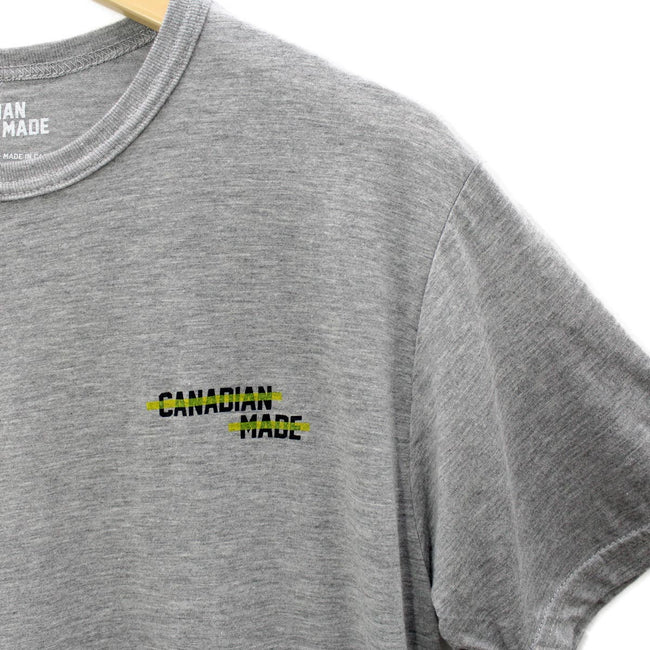 Canadian Made Highlight Bamboo T-Shirt - Grey
