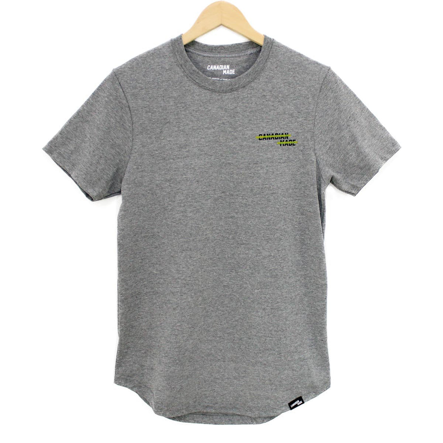 Canadian Made Highlight Round Hem T-Shirt - Grey