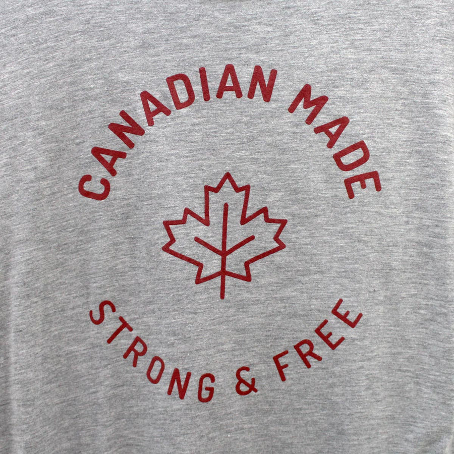 Canadian Made Strong & Free Bamboo T-Shirt - Grey