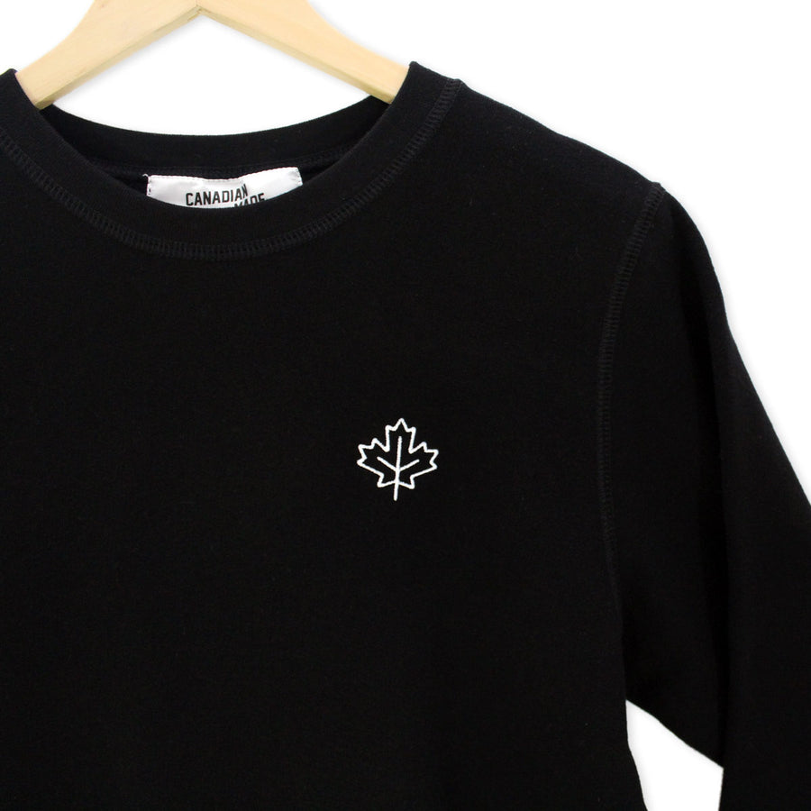 Made in Canada Varsity Bamboo Sweatshirt - Black