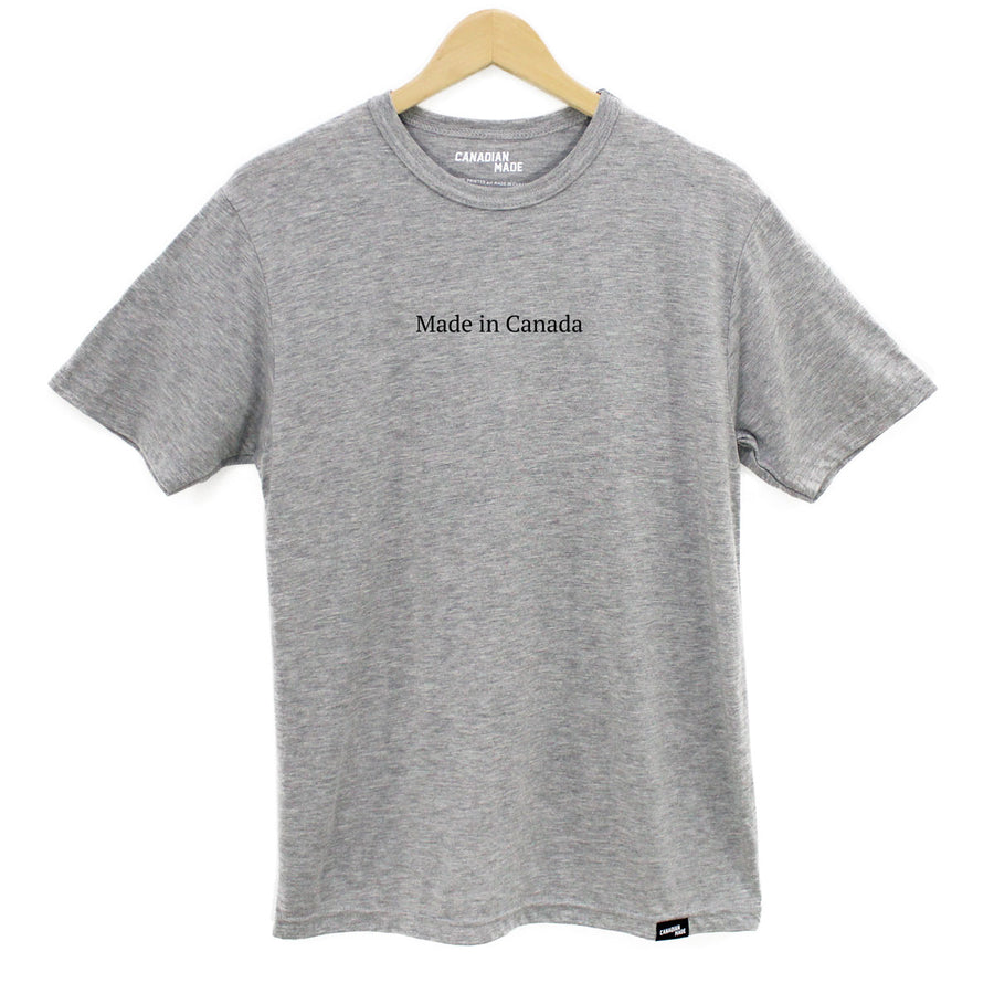 Made in Canada Bamboo T-Shirt - Grey