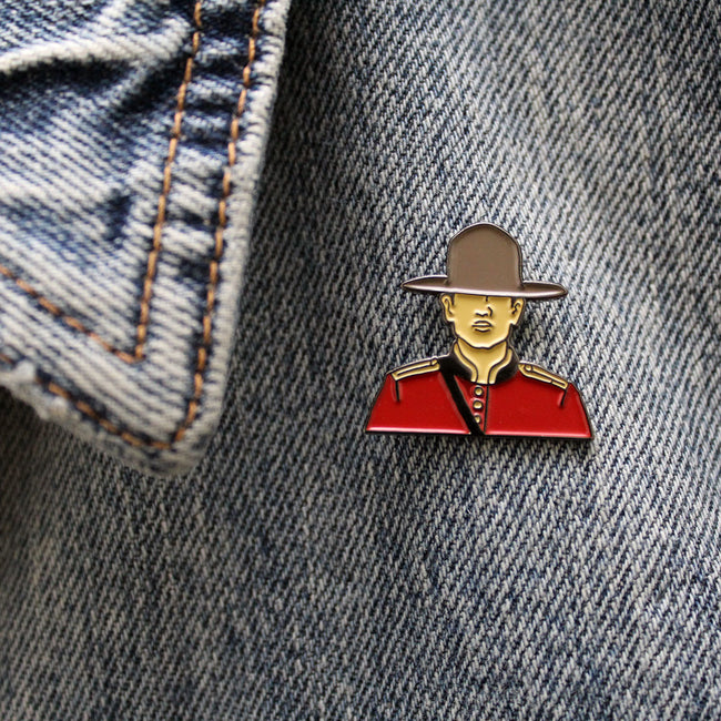 Mountie Enamel Pin