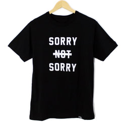 Sorry Not Sorry Bamboo T-Shirt - Black