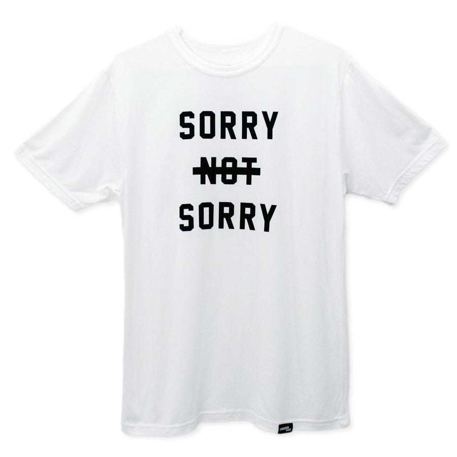 Sorry Not Sorry Bamboo T-Shirt - White