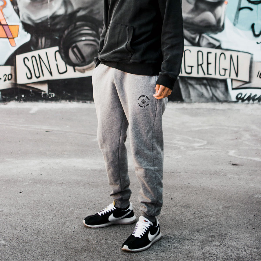 Canadian Made Strong & Free Jogger Sweatpants - Grey