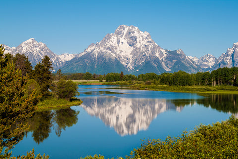 Mount Moran on Snake River - Grand Teton National Park - Wyoming Fine Art Print