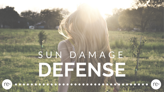 Clean Sun Damage Defense for Your Hair