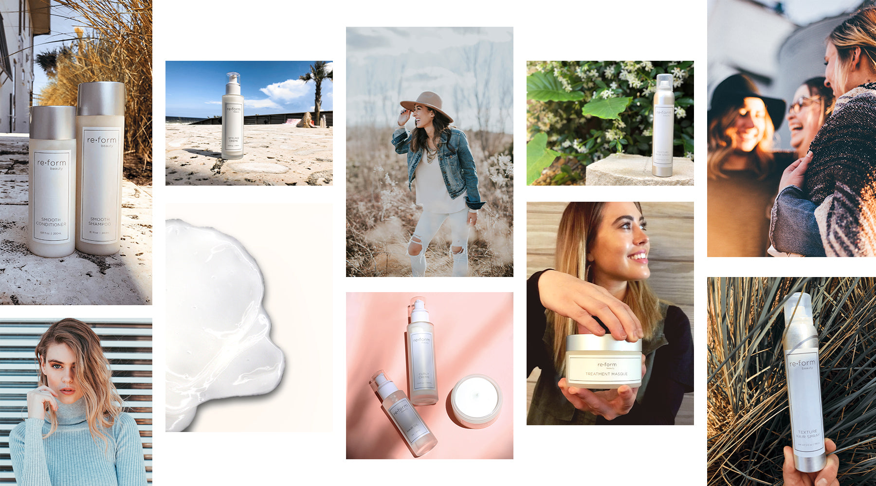 clean beauty collage