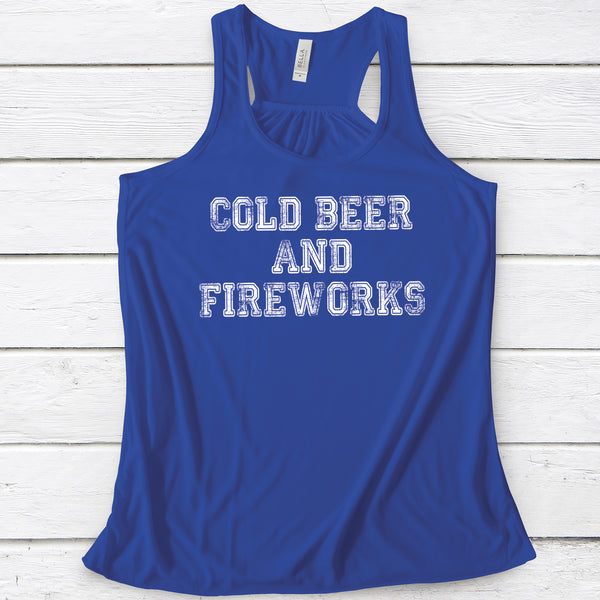 Cold Beer And Fireworks