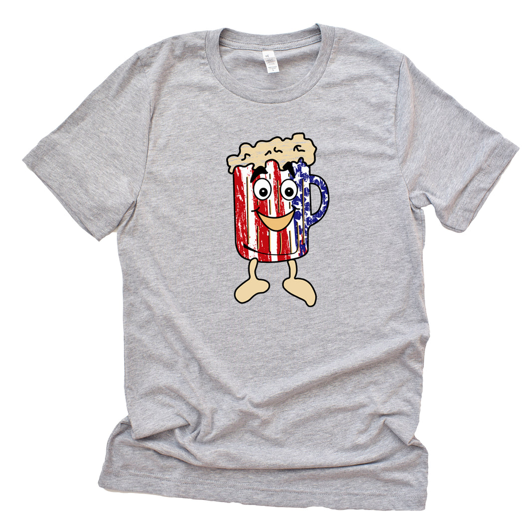 American Flag Frosty the Mug - T-Shirt