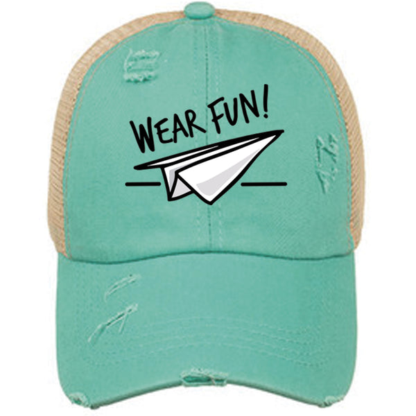 Wear Fun Criss Cross Ponytail Hat - Womens