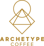 archetype coffee squircangle logo gold