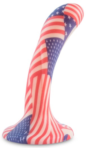 all american dream dildo - flag patriotic sex toy - dildos for patriots