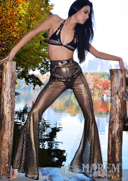 MESH ME UP PANTS (black metallic)