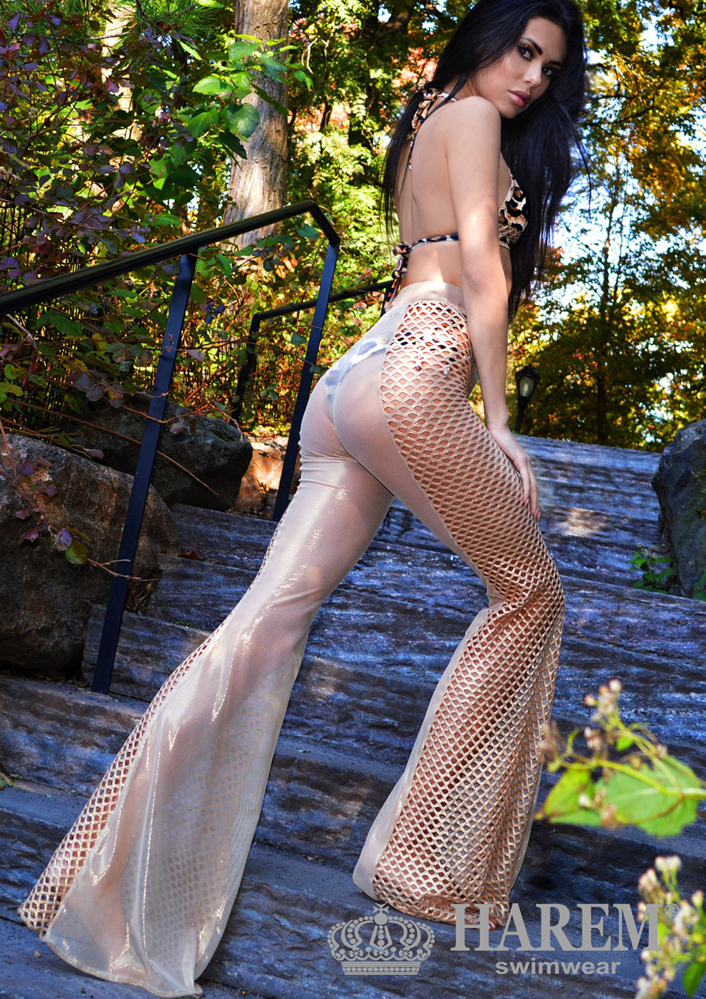 MESH ME UP PANTS (nude metallic)