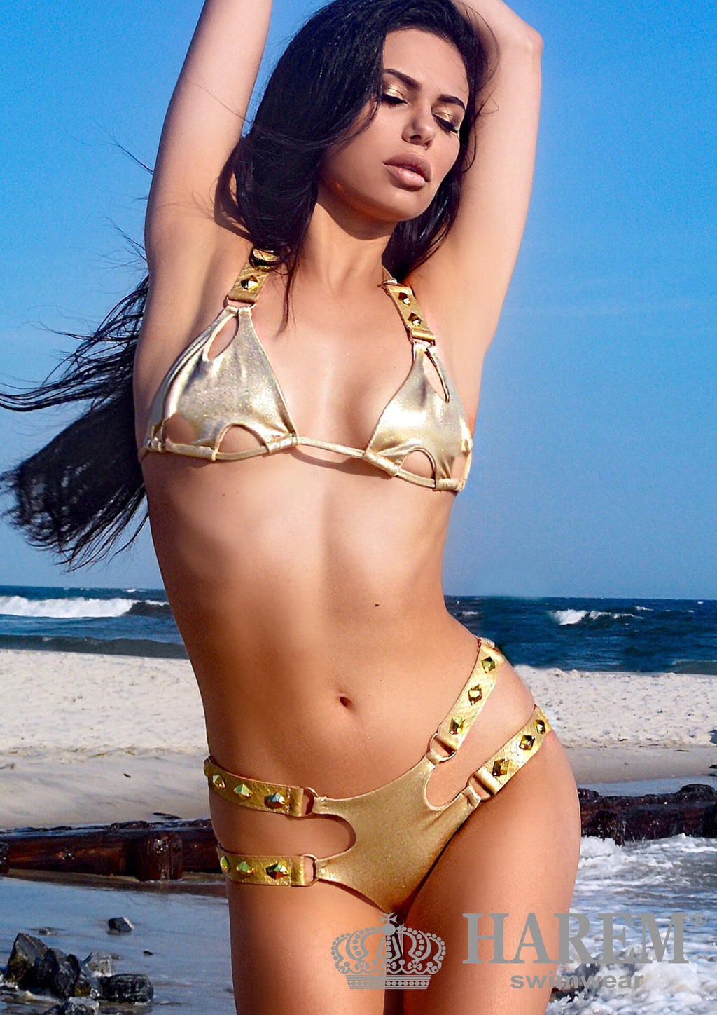ATHENA BIKINI (nude metallic and gold) SOLD OUT