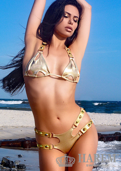 ATHENA BIKINI (nude metallic and gold)