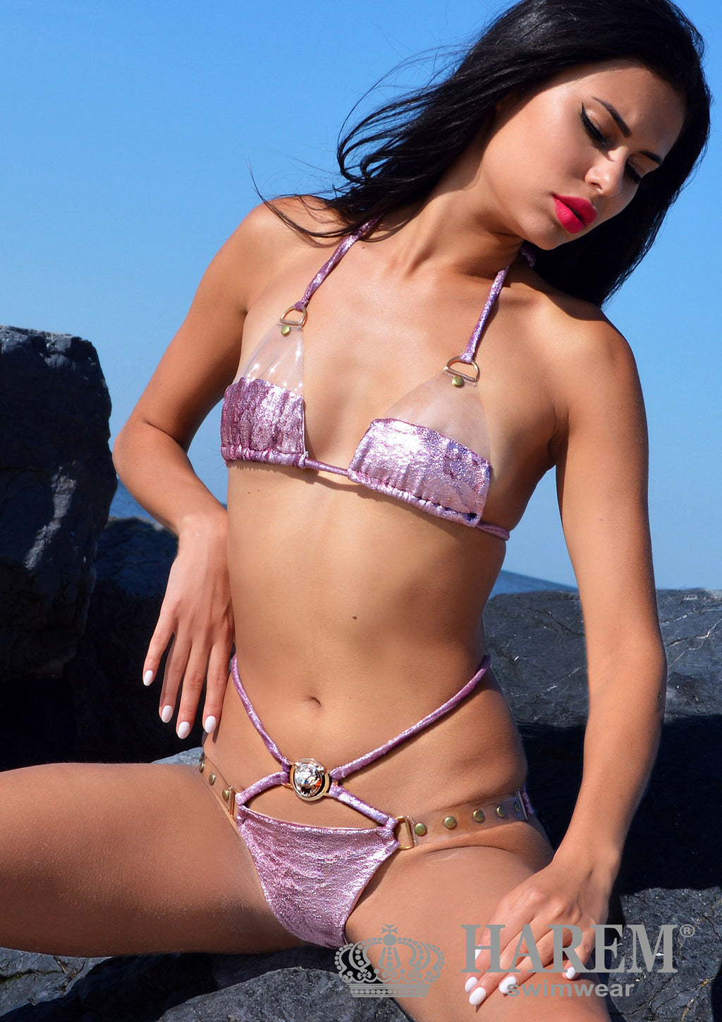 ROCK ME BIKINI ( rose metallic velvet)